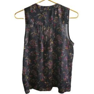 || PJK || Small Tie Front Sheer Sleeveless Top